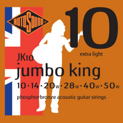 Rotosound Jumbo King Phosphor Bronze Acoustic Extra Light 10-50 - struny do gitary akustycznej