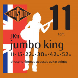Rotosound Jumbo King Phosphor Bronze Acoustic Light 11-52