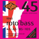 Rotosound Roto Bass Nickel on Steel 45-105 (RB45) - struny do gitary basowej