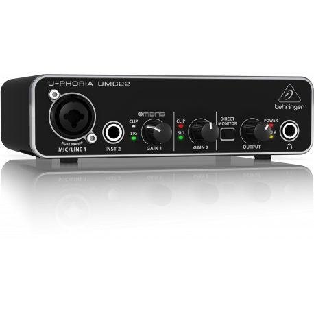 Behringer U-PHORIA UMC22 - interfejs audio USB