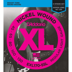 D'addario EXL170-5 SL - struny do gitary basowej Long Scale